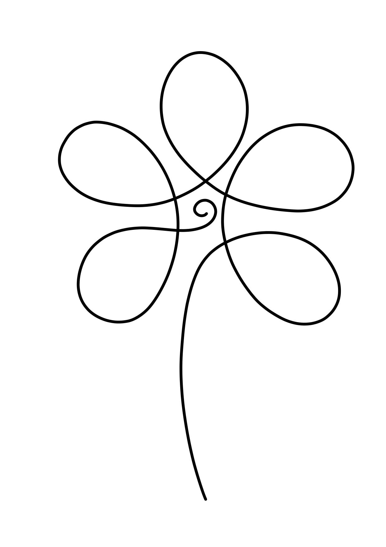 jednotažka - grafomotorické cvičení